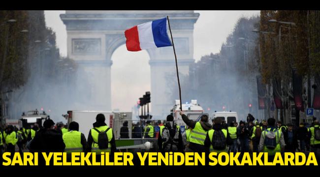 Fransa'da 'sarı yelekililer' yeniden sokaklarda!