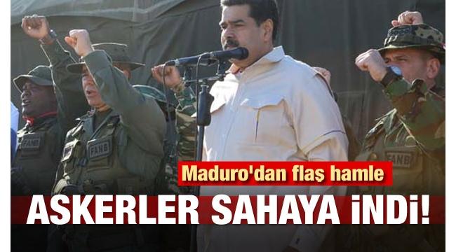 Maduro ABD'ye meydan okudu: İşte silahlı kuvvetler burada..