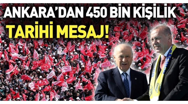 ANKARA'da, Ya beka ya bela diyen 450 bin kişi, dünyaya 31 Mart mesajı yolladı....