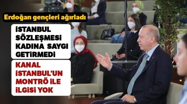 Son dakika: Başkan Erdoğan'dan Kanal İstanbul açıklaması: Tüm insanlığın kullanımına sunacağız.