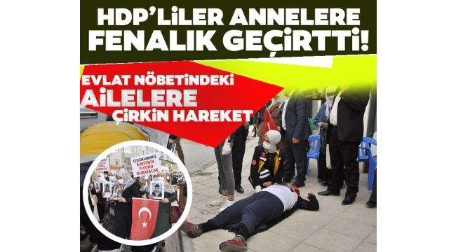 Son dakika:HDP'lilerden evlat nöbetindeki ailelere çirkin hareket! Bazı anneler fenalık geçirdi