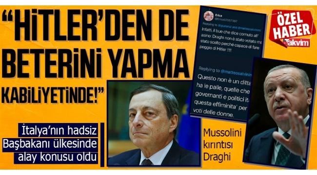 Türkiye, Başkan Erdoğan'ın yanında! Mussolini kırıntısı Draghi'ye tokat gibi cevap: #Erdoğanı Durduramazsınız