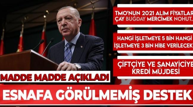 SON DAKİKA| Başkan Recep TayyipErdoğan,Kabine Toplantısıkararlarını açıkladı! İşte esnafa hibe desteği müjdesinin detayları