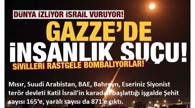 Son dakika:İşgalci İsrail,GazzeŞeridi'ne karadan saldırı başlattı!