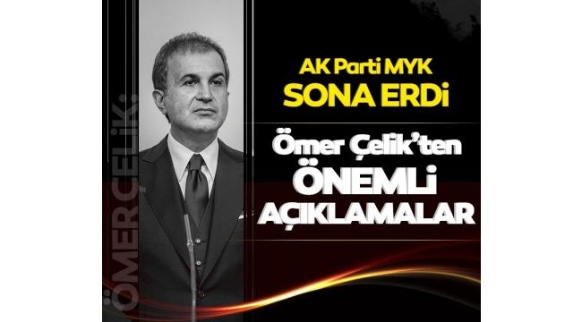 AK PartiSözcüsüÖmer ÇelikMarmara'da müsilaj için plan devreye girdi