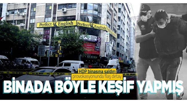 HDPbinasına saldıranOnur Genceraynı binada bulunan İngilizce kursuna keşif amaçlı yazılmış