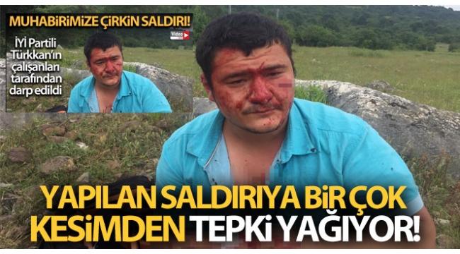 İYİ Partililerin saldırısına uğrayan gazeteciMustafa Uslu: