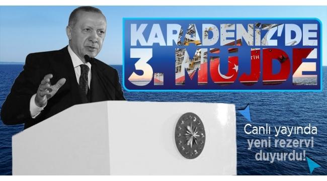 Karadeniz'de 135 milyar metreküplük yeni doğal gaz rezervi! Başkan Erdoğan Filyos'ta müjdeyi açıkladı...