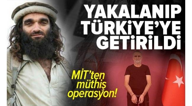 Kırmızı kategoride aranan teröristKasım Güler, MİT'in Suriye'deki operasyonuyla yakalanarakTürkiye'ye getirildi