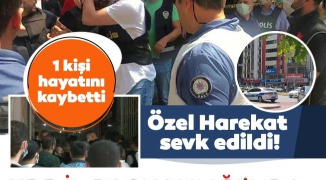 Son dakika: HDP İzmir İl Başkanlığı'nda silah sesleri: 1 kişi öldü, 1 kişi gözaltında! Özel Harekat bölgede.