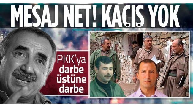 Son dakika | PKK'ya darbe üstüne darbe! Terör elebaşları mesajı aldı...