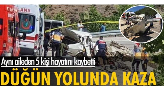 Adana'da düğün yolunda kaza: Aynı aileden 5 kişi öldü