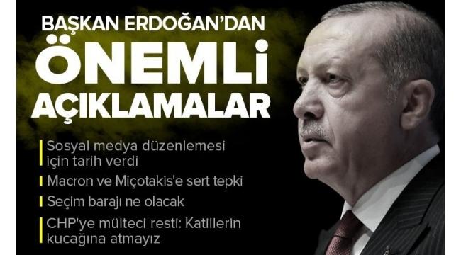Lefkoşa kriterleri! BaşkanRecep Tayyip Erdoğan'dan 5 önemli mesaj...