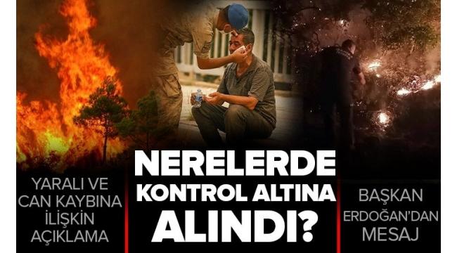 Türkiye genelindeki yangınlarda son durum ne? Tarım ve Orman Bakanı Bekir Pakdemirli son dakika olarak açıkladı.