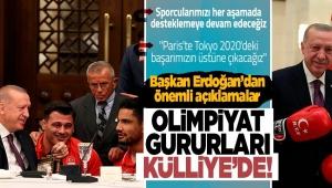 Başkan Erdoğan,TokyoOlimpiyat Oyunları'nda madalya alan milli sporcularla bir araya geldi