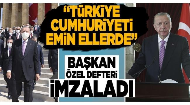 Son dakika: 30 Ağustos Zafer Bayramı'nın 99. yılı! Başkan Erdoğan Anıtkabir'deki törene katıldı