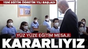 Son dakika haberi: Başkan Erdoğan'dan yüz yüze eğitim mesajı: Kararlıyız...