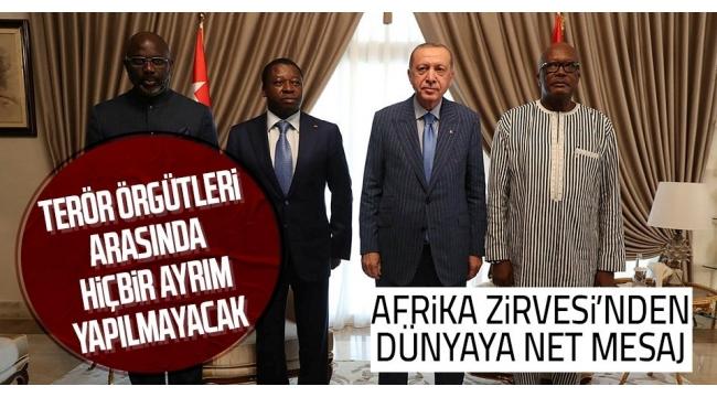 Son dakika: Dörtlü Zirve'nin ardından ortak bildiri! Başkan Erdoğan'ın o sözü ilk kez uluslararası bir bildiride yer aldı